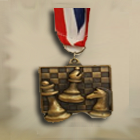 Chess Medal with Ribbon1
