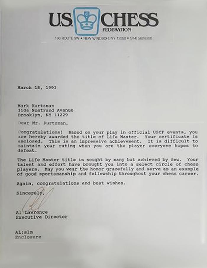 uschess letter